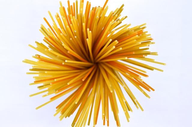 Spaghetti - vor dem Kochen
